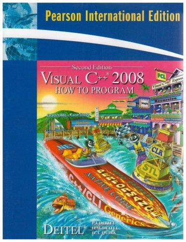 9780132083713: Visual C++ 2008 How to Program: International Edition