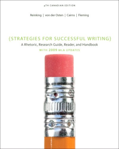 9780132084017: Strategies for Successful Writing: A Rhetoric, Research Guide, Reader, and Handbook, Fourth Canadian Ed. (4th Edition)