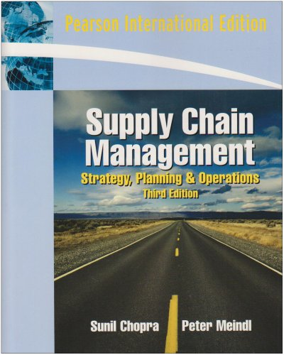 9780132086080: Supply Chain Management: Strategy, Planning and Operation