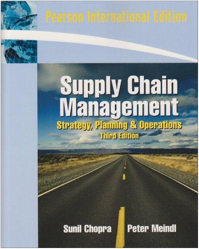 9780132086080: Supply Chain Management: International Edition