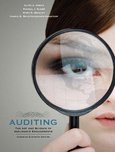 Auditing: The Art and Science of Assurance: Randal J. Elder,