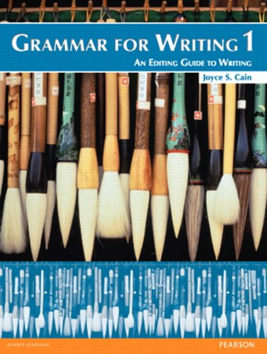 9780132088985: Grammar for Writing 1 (2nd Edition)