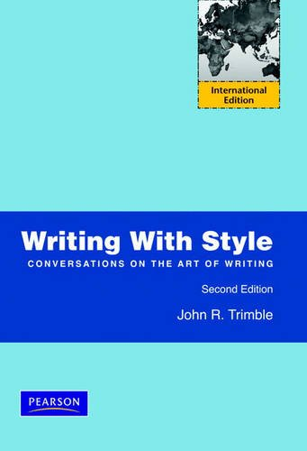 9780132092609: Writing with Style: Conversations on the Art of Writing
