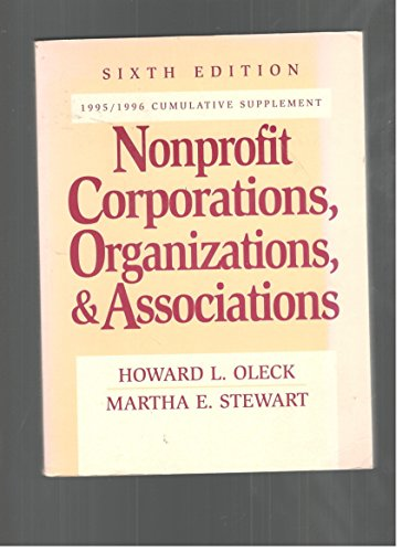 9780132097352: Nonprofit Corporations, Organizations, and Associations, 6th Edition