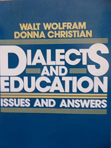 9780132098670: Dialects and Education: Issues and Answers