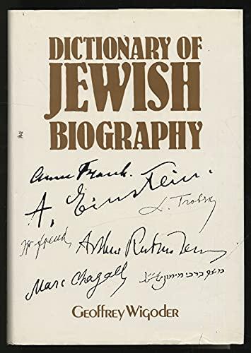 9780132101059: Dictionary of Jewish Biography