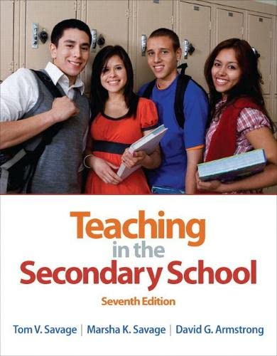 9780132101523: Teaching in the Secondary School