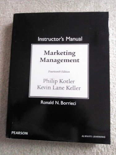 9780132102988: Marketing Management, Instructor's Manual