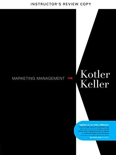 9780132103046: Marketing Management 14e