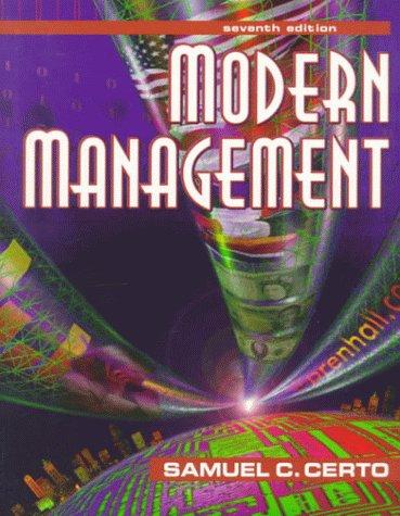 9780132106344: Modern Management