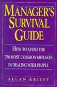 9780132107587: Manager's Survival Guide