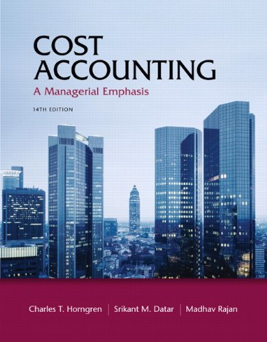 9780132109178: Cost Accounting: A Managerial Emphasis, 14th Edition