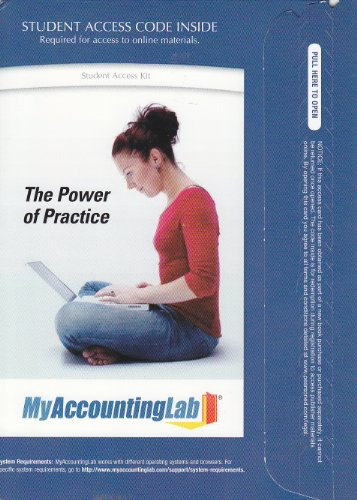 9780132110747: MyAccountingLab - Valuepack Access Card, Component (2- Semester Access)