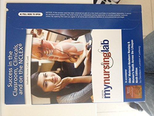 9780132110969: MyNursingLab -- Access Card -- for Olds' Maternal-Newborn Nursing & Women's Health Across the Lifespan