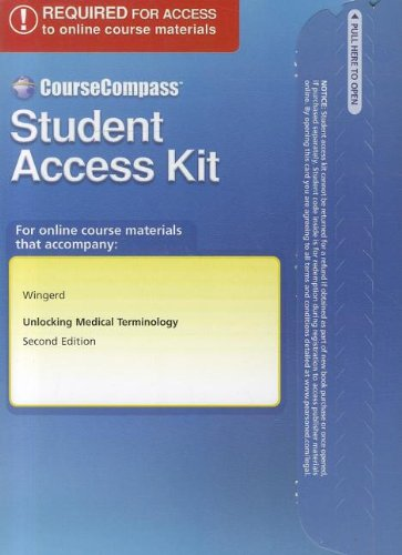 9780132114998: CourseCompass Student Access Code Card for Unlocking Medical Terminology