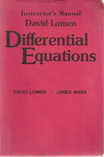 9780132115667: Differential Equations Instructor's Manual