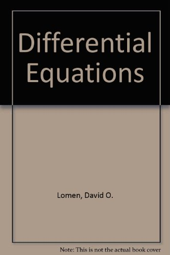 9780132116329: Differential Equations