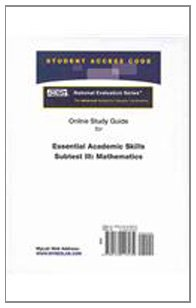 9780132118132: Access Code Card for the Online Tutorial for the National Evaluation Series Essential Academic Skills Subtest III: Mathematics Test
