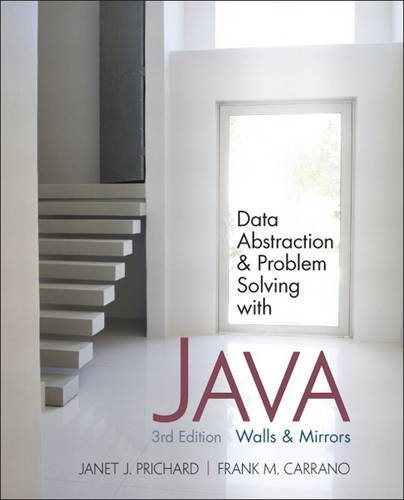 9780132122306: Data Abstraction and Problem Solving with Java: Walls and Mirrors