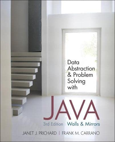 9780132122306: Data Abstraction and Problem Solving with Java: Walls and Mirrors (3rd Edition)
