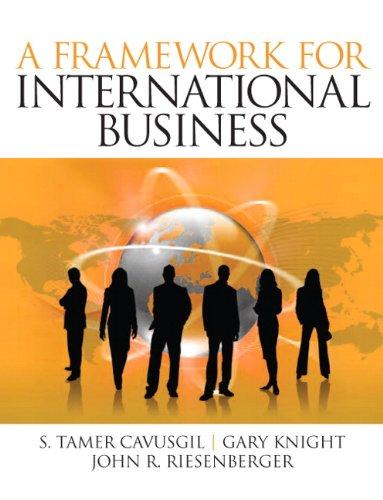 9780132122825: A Framework of International Business: Volume 1