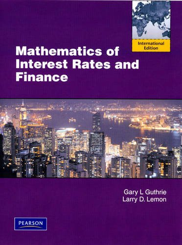 9780132129442: Mathematics of Interest Rates and Finance