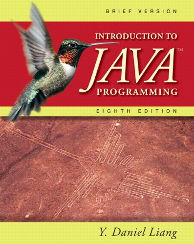 9780132130790: Introduction to Java Programming, Brief (8th Edition)