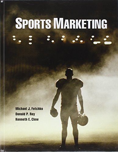 Sports Marketing 9780132135467 For courses in Sports Marketing. Help students understand the business of sports through a practitioner's perspective. Written from the perspective of those who've been actively involved in the sports business, Sports Marketing addresses business and marketing issues pertinent to sports as observed by the practitioners and scholars themselves. Through its extensive presentation of current information, this text also helps encourage students to get actively involved and engaged in the process of sports entertainment. Features: Present information from the field: A practitioner's approach. Most sports marketing texts are crafted using a marketing principles template. The organization and chapter themes of these texts are often too similar to Principles of Marketing texts. Sports Marketing strives to depart from that practice by focusing on important conceptual, strategic, and actionable areas of the sports marketing function. Practitioner contributions come from the author team, and a high caliber roster of successful sports executives from media, marketing, and other areas of sports business. Industry experts highlights. Each chapter features an industry expert. Each expert was selected based on his or her knowledge and provided input on chapter content. The Insider Expert feature that appears early in each chapter gives biographical information on the chapter's industry contributor. Sports examples. Throughout the book, concepts are reinforced with examples of practices and events from the sports industry. A variety of sports, properties, and companies are used as examples to bring to life definitions and concepts presented. Put students' analytical skills into play: Critical thinking exercises, which are found throughout this text, require students to consider various situations faced by the sports marketers and sports executives. The end-of-chapter sports marketing cases put students in the role of decision maker, enabling students to apply knowle...