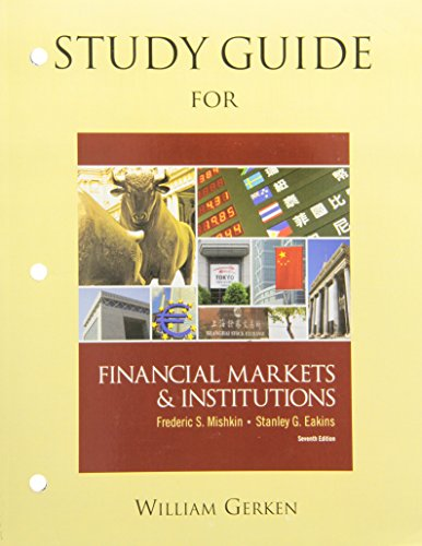 9780132136921: Study Guide for Financial Markets & Institutions