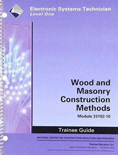9780132137485: 33102-10 Wood and Masonry Construction Methods TG