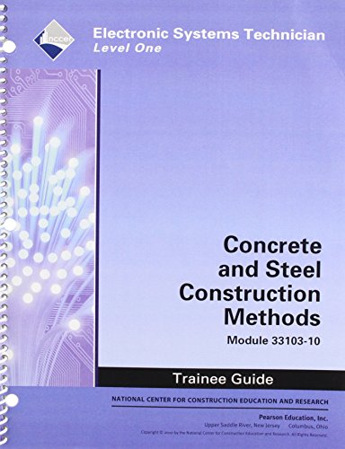 9780132137492: 33103-10 Concrete and Steel Construction Methods TG