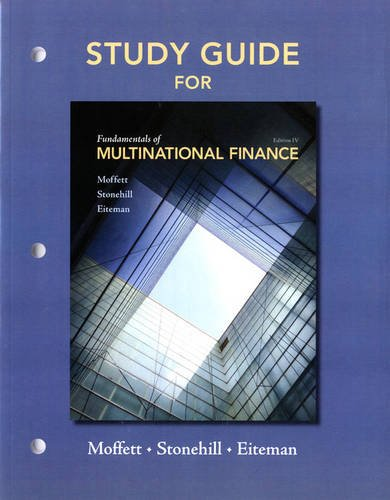 9780132138185: Study Guide for Fundamentals of Multinational Finance