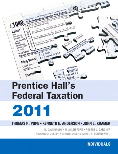9780132138574: Prentice Hall's Federal Taxation: 2011: Individuals (24th Edition)