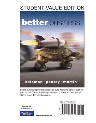9780132139472: Better Business, Student Value Edition