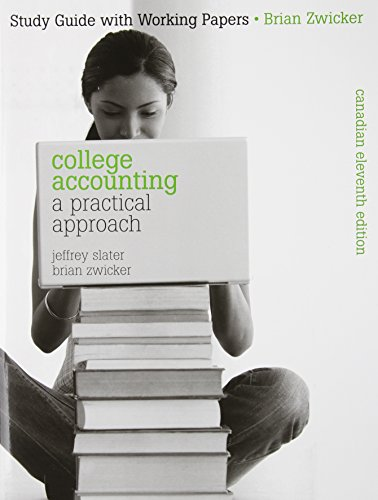 9780132139700: Study Guide with Working Papers for College Accounting: A Practical Approach, Eleventh Canadian Edition