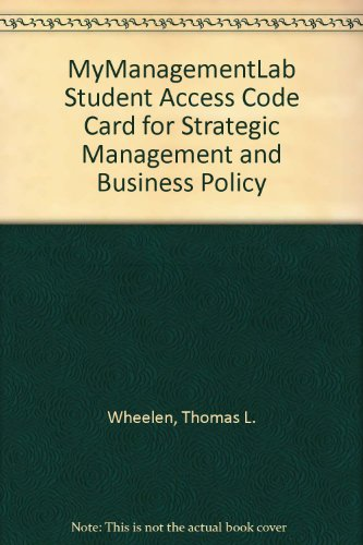 9780132142786: MyManagementLab Student Access Code Card for Strategic Management and Business Policy