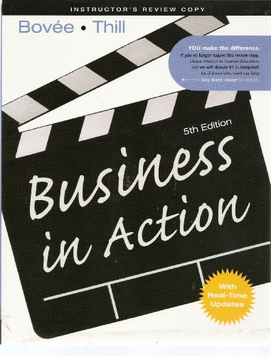 9780132146814: Business in Action 5th Edition (Instructor Review Copy)