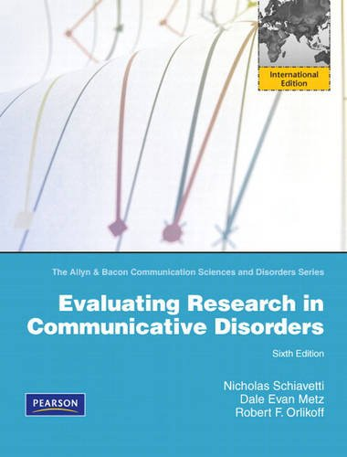 9780132146883: Evaluating Research in Communicative Disorders