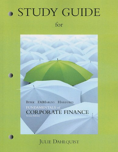 9780132148337: Study Guide for Fundamentals of Corporate Finance
