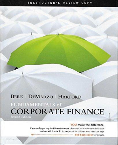 9780132148436: Fundamentals of Corporate Finance (Fundamentals of Corporate Finance Second Edition)