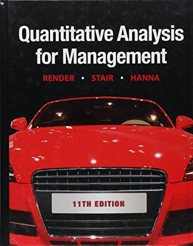 9780132149112: Quantitative Analysis for Management (11th Edition)