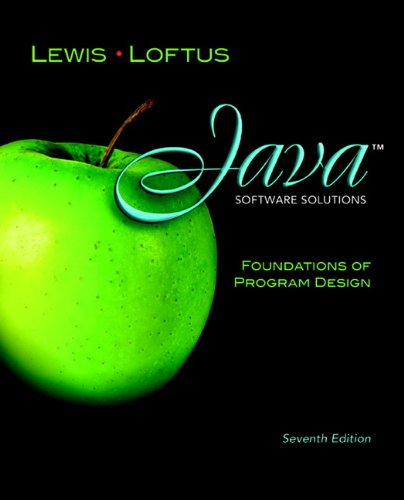 9780132149181: Java Software Solutions: Foundations of Program Design (7th Edition)