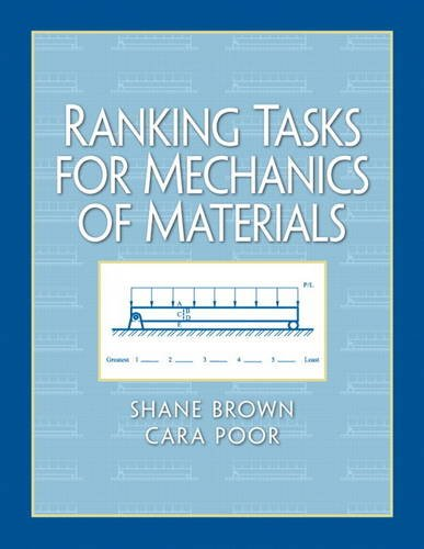 9780132149525: Ranking Tasks for Mechanics of Materials (Pearson Series in Educational Innovation: Student Resources for Engineering)