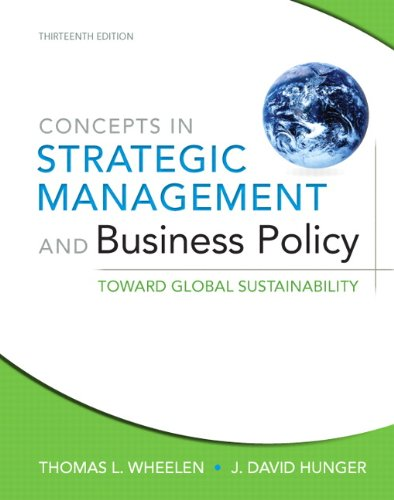 9780132153355: Concepts in Strategic Management and Business Policy: Toward Global Sustainability (13th Edition)
