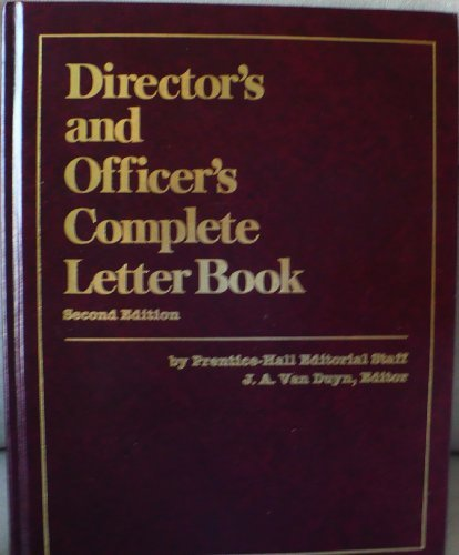9780132154673: Director's and Officer's Complete Letter Book