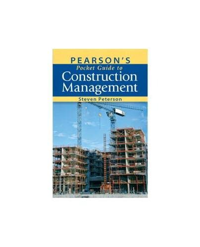 9780132156103: Pearson's Pocket Guide to Construction Management