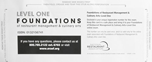 9780132156745: Exam Voucher for Foundations of Restaurant Management & Culinary Arts: Level 1