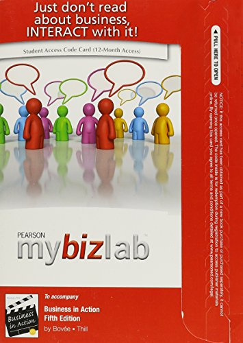 9780132158527: Business in Action: Mybizlab + Pearson Etext Student Access Code Card