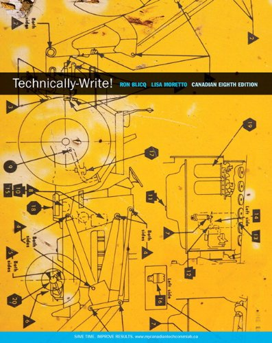 9780132158855: Technically-Write, Eighth Canadian Edition (8th Edition)