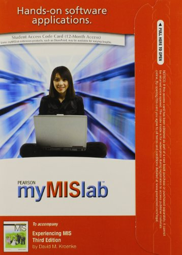 9780132159210: MyMISLab with Pearson eText -- Access Card -- for Experiencing MIS